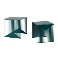 Zick Zack Nesting Table Set Green | Tavolini bassi | Swedish Ninja