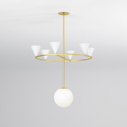 Cones on a ring 328OL-P01 | Suspended lights | Atelier Areti