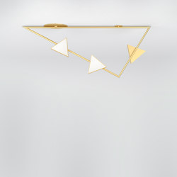 Girlande with flat triangles 366OL-C01 | Ceiling lights | Atelier Areti
