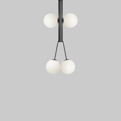 Thick tube and globes 421OL-P01 | Suspended lights | Atelier Areti