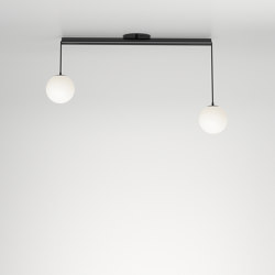 Tube with globes 331OL-C01 | Lampade plafoniere | Atelier Areti