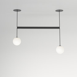 Tube with globes 331OL-P01 | Suspended lights | Atelier Areti