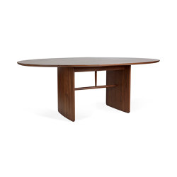 Pennon | Small Walnut Pennon Table | Tables de repas | L.Ercolani