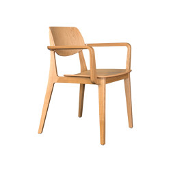 Felber C14 Wood 4ft with armrest | Chairs | Dietiker