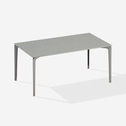AllSize rectangular table with speckled aluminium top | Dining tables | Fast