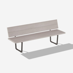 Orizon bench with backrest | Benches | Fast