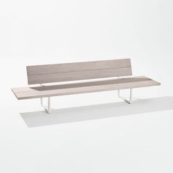 Orizon lounge sofa with side tables | Benches | Fast