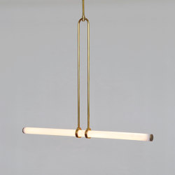 Light Object 018 - LED light, ceiling, natural brass finish | Suspended lights | Naama Hofman Light Objects