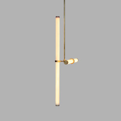 Light Object 019 - LED light, ceiling, natural brass finish | Suspensions | Naama Hofman Light Objects