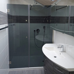 Duschwand Mit Seitenteilen | Shower screens | glasprofi24