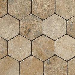Aix Beige Honeycomb Tumbled | Ceramic mosaics | Atlas Concorde