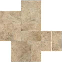 Aix Beige Kit Multiformato Tumbled | Ceramic tiles | Atlas Concorde