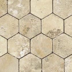 Aix Blanc Honeycomb Tumbled | Ceramic mosaics | Atlas Concorde