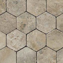Aix Cendre Honeycomb Tumbled | Ceramic mosaics | Atlas Concorde