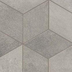 Blaze Aluminium Mosaico Esagono Lapp | Ceramic tiles | Atlas Concorde