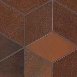 Blaze Corten Mosaico Esagono Lapp | Ceramic tiles | Atlas Concorde