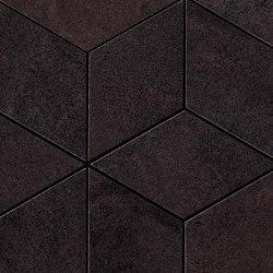 Blaze Iron Mosaico Esagono Lapp | Ceramic tiles | Atlas Concorde
