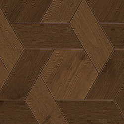 HEARTWOOD Moka Mansion Weave 34,6x40 | Carrelage céramique | Atlas Concorde