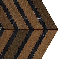 HEARTWOOD Moka Marble Chevron 29,4x28,7 | Carrelage céramique | Atlas Concorde