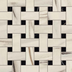 Marvel Bianco Fantastico Basket Weave Matt | Ceramic mosaics | Atlas Concorde
