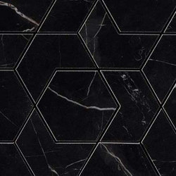 Marvel Black Atlantis HEX | Ceramic mosaics | Atlas Concorde
