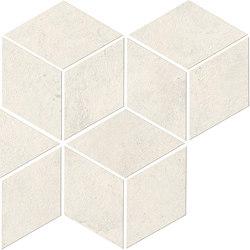 RAW White Mosaico Esagono | Keramik Mosaike | Atlas Concorde