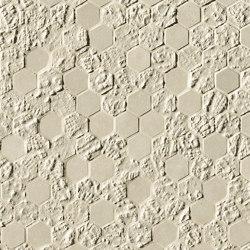 Bloom Beige Print Esagono Mosaico | Wandfliesen | Fap Ceramiche