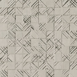Bloom Metal Grey Silver Mosaico | Ceramic flooring | Fap Ceramiche