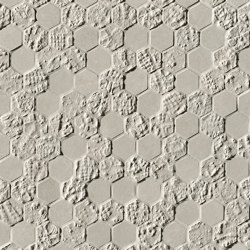 Bloom Grey Print Esagono Mosaico | Wall tiles | Fap Ceramiche