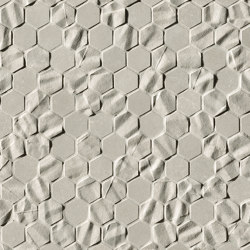 Bloom Grey Star Esagono Mosaico | Carrelage mural | Fap Ceramiche