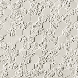 Bloom White Print Esagono Mosaico | Mosaicos de pared | Fap Ceramiche