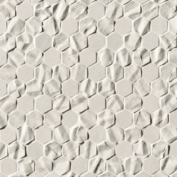 Bloom White Star Esagono Mosaico | Wall mosaics | Fap Ceramiche