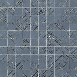 Bloom Metal Blue Silver Mosaico | Ceramic flooring | Fap Ceramiche
