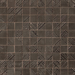Bloom Metal Brown Gold Mosaico | Ceramic flooring | Fap Ceramiche