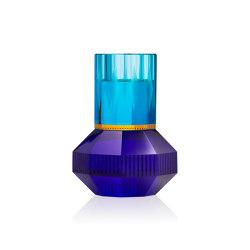 Chicago amber/cobalt | Candlesticks / Candleholder | Reflections Copenhagen