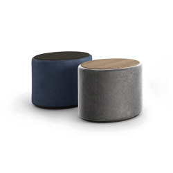 Pilar Armchair and Pouf | Side tables | Presotto