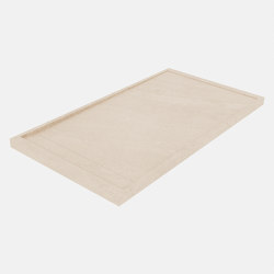 HYDRA Petra Crema Bush-hammered | Shower trays | INALCO