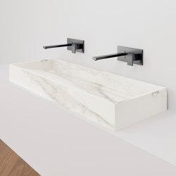 Hydra WT 117x43 Larsen Super Blanco-Gris Natural | Wash basins | INALCO
