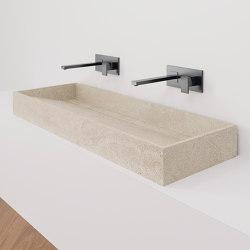 Hydra WT 117x43 Petra Crema Bush-hammered | Wash basins | INALCO