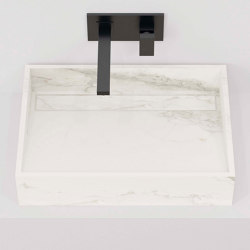 Hydra WT 60x43 Larsen Super Blanco-Gris Natural | Wash basins | INALCO