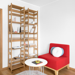 Étagère LIFT Medium, plaqué chêne | Étagères | Radis Furniture