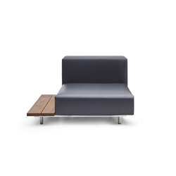 Walrus seat with side table with 80 cm wide seating | Armchairs | extremis