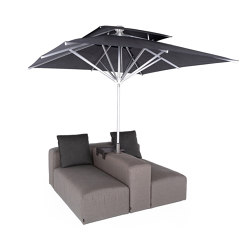 Liberty Outdoor | 2-in-1 Lounge with parasol | Parasols | IKONO