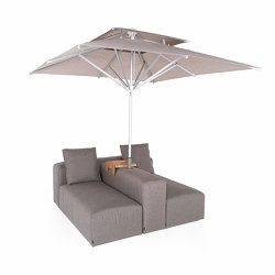 Lounge Outdoor System   2-in-1 Lounge with parasol   Parasols   IKONO