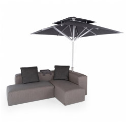 Lounge Outdoor System | 2-in-1 Lounge with parasol | Parasols | IKONO