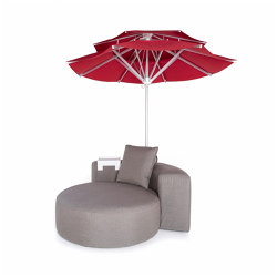 Lounge Outdoor System | Sunset Lounge with parasol | Parasols | IKONO
