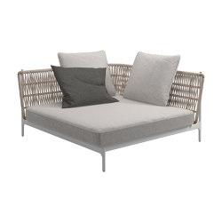 Grand Weave Large Corner Unit White | Seating islands | Gloster Furniture GmbH