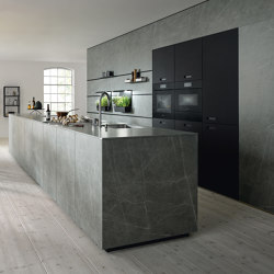 NX 950 Ceramic marble grigio effect | Fitted kitchens | next125