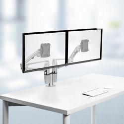 Ensemble complet | Comfort Duo avec fixation traversante à vis | Accessoires de table | Novus