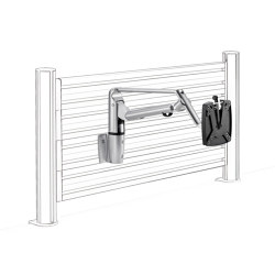 LiftTEC | SlatWall LiftTEC Arm IV, with organisation wall mount | Table accessories | Novus